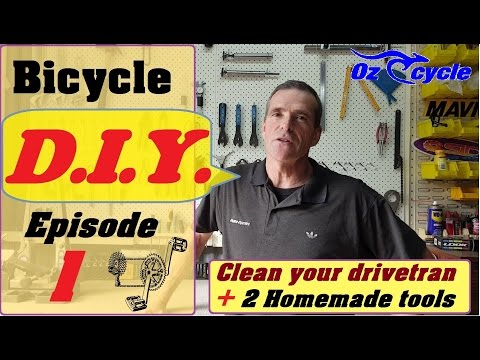 Clean your bicycle chain,cogs and crankset- Do it yourself.