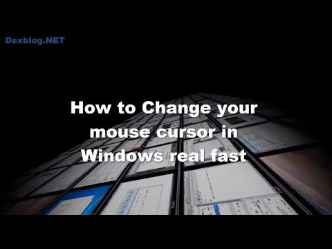 How to Change your mouse cursor in Windows real fast