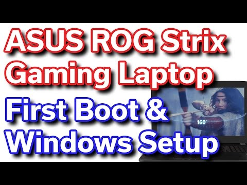 ASUS ROG Strix - i7-6700HQ - GTX 1070 - First Boot & Windows Setup