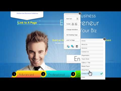 TrendyTools HTML5 site builder Link a Page Text 07