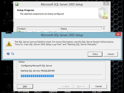 How to Install Sql Server 2005 on Windows8