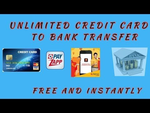 Credit card to Bank account Transfer money Free.