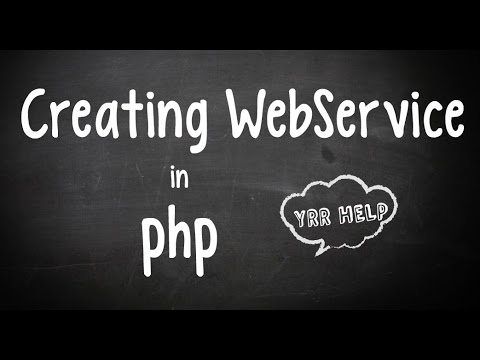 Creating a SOAP WebService in PHP