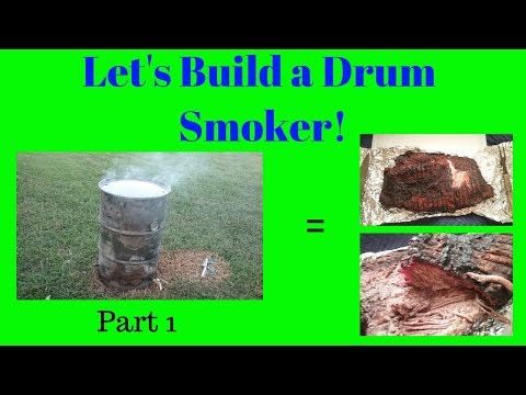 How To Build A Drum Smoker -  Part 1 - Cleaning the 55 gallon Barrel