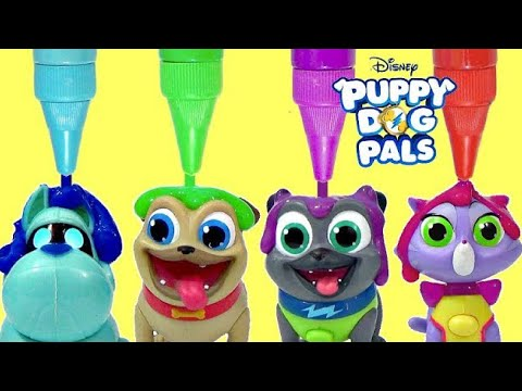 Puppy Dog Pals On a Mission Crayola Bath Paints with Rolly, Bingo, Hissy & A.R.F.