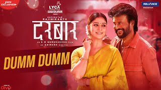 DARBAR (Hindi) - Dumm Dumm (Lyric Video) | Rajinikanth | A.R. Murugadoss | Anirudh | In Cinemas Now