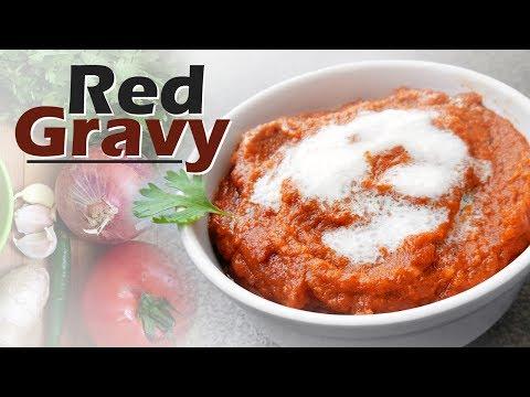 Basic Red Gravy | Restaurant style gravy | Onion - Tomato Gravy