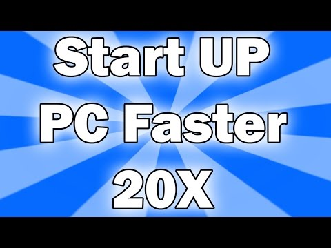 how to Boot UP PC Faster (