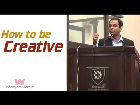 How to be Creative | Qasim Ali Shah | Urdu/Hindi | WaqasNasir