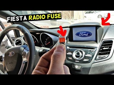 FORD FIESTA RADIO FUSE LOCATION REPLACEMENT MK7 ST