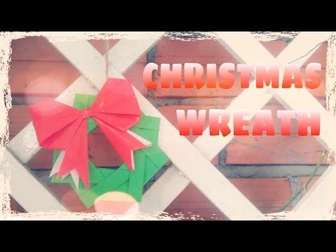 Origami Christmas Wreath - Origami Easy