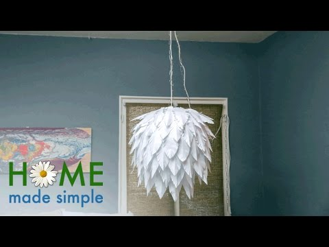 You Can Make This Chic, Modern Chandelier With A Few Pieces of Paper | Home Made Simple | OWN