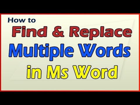 How to find and replace in word?