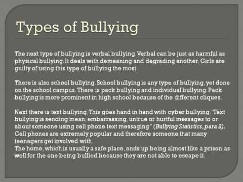 Bullying and Psychology