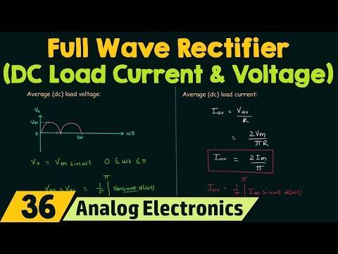 Full Wave Rectifier (DC Load Current & DC Load Voltage)