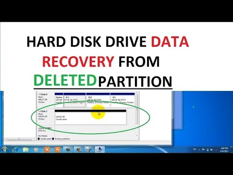 Recover deleted partition with data (recover data from merged or deleted or formatted partition)