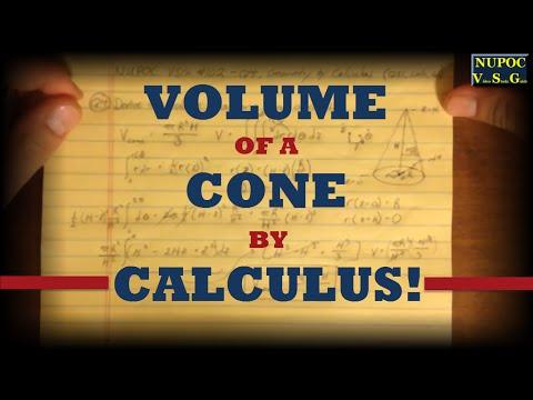 NUPOC VSG #102 - Derive Volume of a Cone Using Calculus