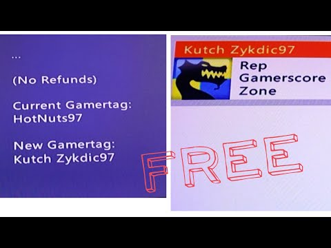 HOW TO CHANGE YOUR XBOX GAMERTAG FOR FREE! (XBOX 360)