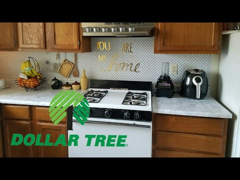 Dollar Tree DIY Life hacks for small Kitchen/ part 3 affordable kitchen makeover