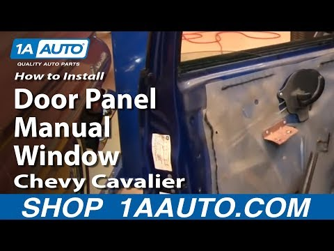How To Install Replace Front Door Panel Manual Windows Chevy Cavalier 95-05 1AAuto.com