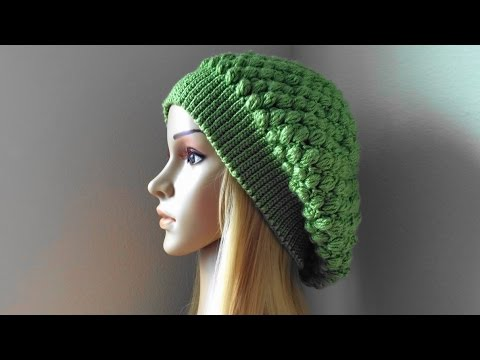 How To Crochet A Puff Stitch Hat, Lilu's Handmade Corner Video # 92