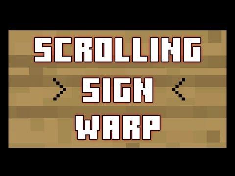 Minecraft Plugin: Scrolling Sign Warp - Scroll through & warp!