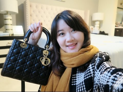 4a88be8863 Lady Dior Unboxing + Review | What fits in my bag? Mod Shots