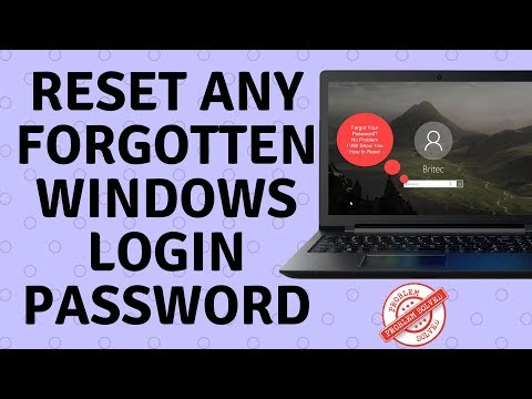 Reset Any Windows Login Password