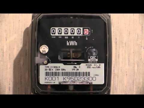 Electricity Meter : GEC C11B3A-H kWh meter.