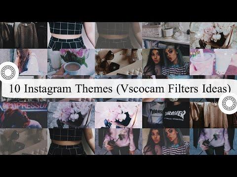 10 INSTAGRAM THEMES | VSCOCAM FILTERS (DRAK,LIGHTAND FADE) PT 1