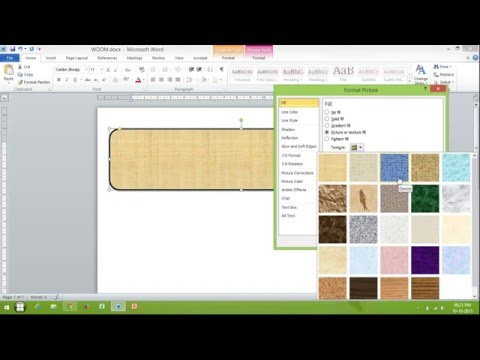 How to Change Background and Line Color of Shape in MS Word