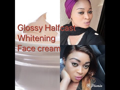 How To Make Halfcast Glossy Whitening Face Cream/ For a Flawless and Perfect skin