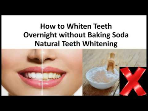 How to Whiten Teeth Overnight without Baking Soda - 2  Natural Teeth Whitening Tricks