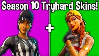10 MOST TRYHARD SKINS in SEASON 10! (Fortnite Season X Sweaty Skins)