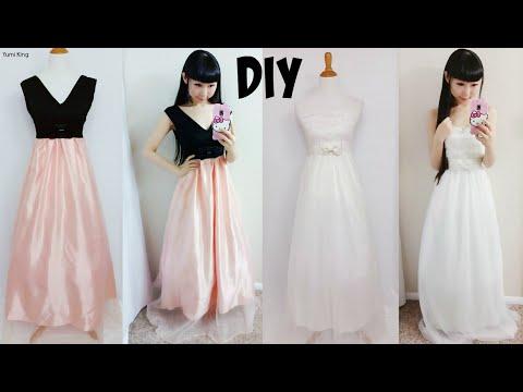 DIY Easy Wedding Dress & Prom Dress from Scratch (Floor Length)| DIY Formal Dress