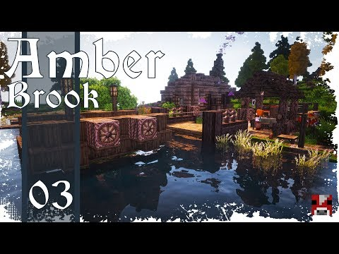 Minecraft Timelapse - Amber Brook 03 - FERRY - collab w. fWhip!