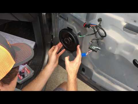 How To Change Front Door Speakers In 2006 chevy silverado - Without Buying Brackets