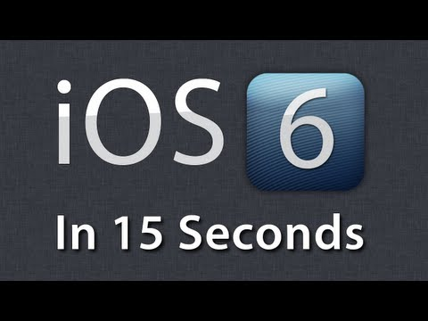 iOS 6 In 15 Seconds [New Features]