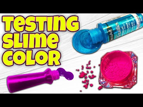 WILL IT SLIME? Testing Slime Color / DON'T USE THIS!