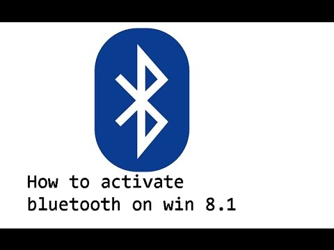 How to enable bluetooth on windows 8 1