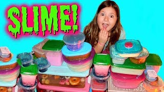 HUGE GROSS SLIME COLLECTION AND SLIME SMOOTHIE!!! PART 1