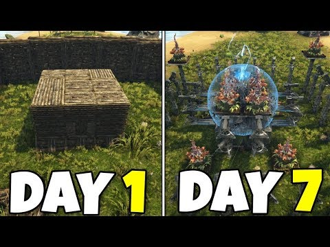 Ark - How to UPGRADE any Solo Base [Wood to Tek]