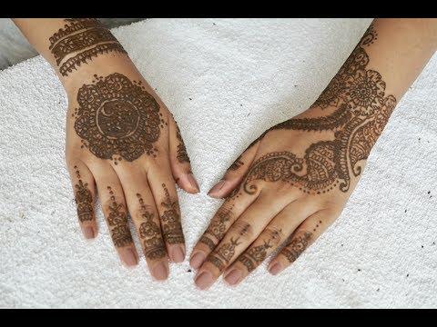Applying Mehndi Henna