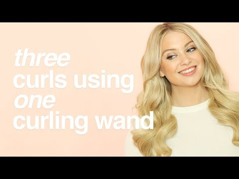 How To: Create 3 Different Curls Using A Curling Wand  |  Milk + Blush Hair Extensions