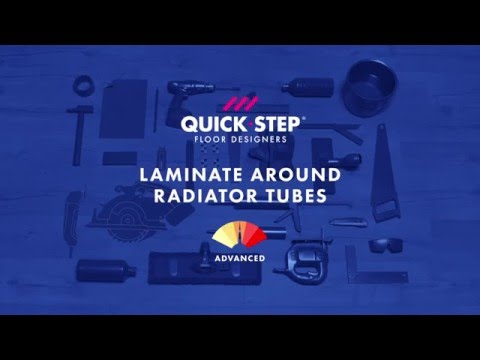 How to install laminate around radiator tubes | Tutorial by Quick-Step