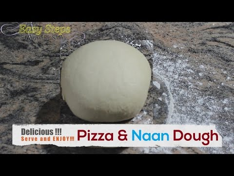 FAST RECIPE How To Make Dough For Pizza or Naan With Yeast | Vegan Recipe