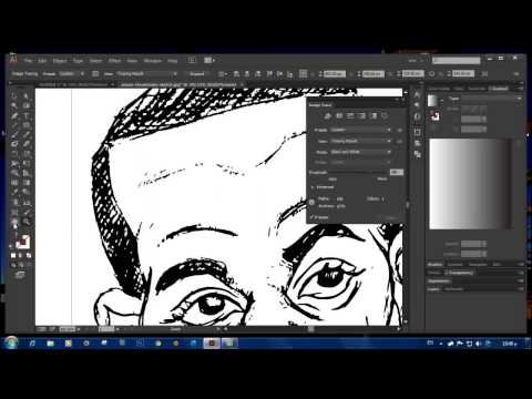 Converting your drawing sketch into a vector using Trace in Illustrator CC