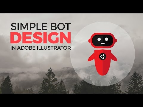 Simple Robot Design in Adobe illustrator - Tuhin's Editing