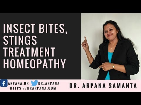 How To Treat Insect Bites (मच्छर, तत्तैया, मधुमक्खी डंक) With Homeopathy & Homeopathic Antibiotics
