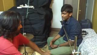 Music setup for Alex in Wonderland - Words from whereabouts - Ft Tabla wizard Muthu and Alex